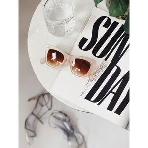 🆕Remy Nude Matte Lucite Oversized Sunnies